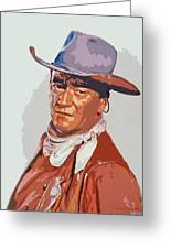 John Wayne - The Duke Greeting Card by David Lloyd Glover