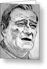 John Wayne - Large Greeting Card by Robert Lance