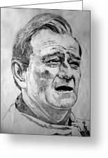 John Wayne - Small Greeting Card by Robert Lance
