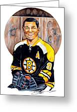 Johnny Bucyk Greeting Card by Dave Olsen