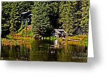 Johnny Sack Cabin II Greeting Card by Robert Bales