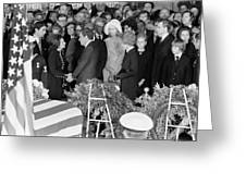 Johnson Funeral, 1973 Greeting Card by Granger