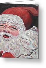 Jolly Santa Greeting Card by Nadine Rippelmeyer
