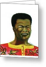 Jose Belo Chipenda Greeting Card by Emmanuel Baliyanga