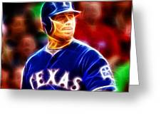 Josh Hamilton Magical Greeting Card by Paul Van Scott
