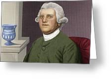 Josiah Wedgwood, British Industrialist Greeting Card by Maria Platt-evans