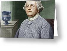 Josiah Wedgwood, British Industrialist Greeting Card by Sheila Terry
