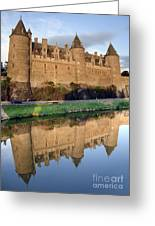 Josselin Chateau Greeting Card by Jane Rix