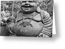 Joyful Lord Buddha Greeting Card by Karon Melillo DeVega