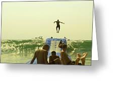 Jump Greeting Card by Paul Grand