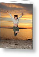 Jumping For Joy Greeting Card by Ted Kinsman