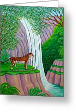 Jungle Cat Greeting Card by Tracy Dennison