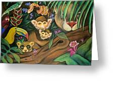 Jungle Fever Greeting Card by Juliana Dube