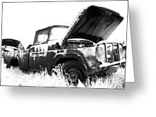 Junkyard Pickup Greeting Card by Matthew Angelo