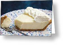 Just One Bite Of Key Lime Pie Greeting Card by Andee Design