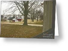 Just Outside The Window Greeting Card by Robert Jensen