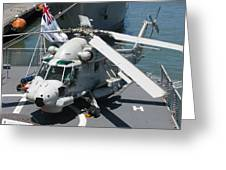 Kaman Sh-2g Sea Sprite Greeting Card by Samuel Sheats