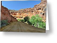 Kane Creek Road Greeting Card by Marty Koch