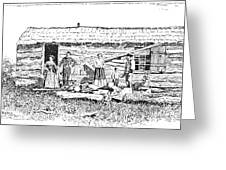 Kansas: Early House, 1854 Greeting Card by Granger