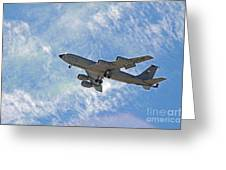 Kc-135 With Clouds Greeting Card by Kenny Bosak