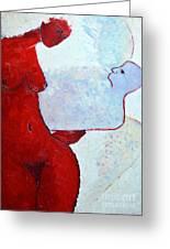Keeping Her Guardian Angel In Her Hand Greeting Card by Ana Maria Edulescu