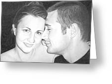 Kelly And Chris Lanktree Greeting Card by Ana Tirolese