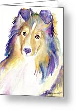 Kelly Greeting Card by Pat Saunders-White