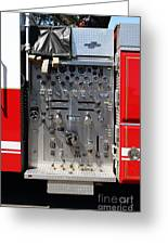 Kensington Fire District Fire Engine Control Panel . 7d15856 Greeting Card by Wingsdomain Art and Photography
