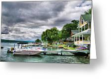 Keuka Lake Shoreline Greeting Card by Steven Ainsworth