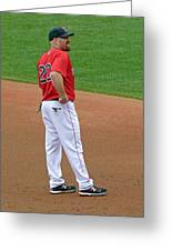 Kevin Youkilis Greeting Card by Juergen Roth