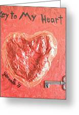 Key To My Heart Greeting Card by Jeannie Atwater Jordan Allen