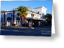 Key West Bar Sloppy Joes Greeting Card by Susanne Van Hulst