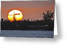 Key West Sunset Greeting Card by T Guy Spencer