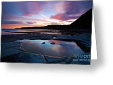 Kimmeridge Colours Greeting Card by Jan Allen