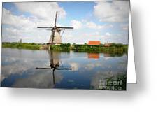 Kinderdijk Windmill Greeting Card by Lainie Wrightson