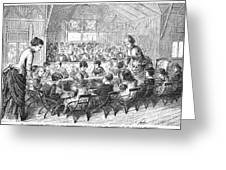 KINDERGARTEN, 1876 Greeting Card by Granger
