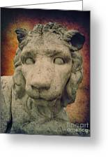 King Lion Greeting Card by Angela Doelling AD DESIGN Photo and PhotoArt