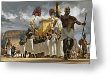 King Taharqa Leads His Queens Greeting Card by Gregory Manchess