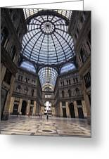 King Umberto I Shopping Arcade Greeting Card by Richard Nowitz