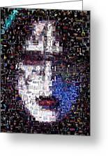 Kiss Ace Frehley Mosaic Greeting Card by Paul Van Scott