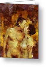 Kiss Me Again Greeting Card by Kurt Van Wagner