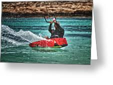 kitesurfer Greeting Card by Stylianos Kleanthous