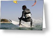 Kitesurfing Board Greeting Card by Hagai Nativ