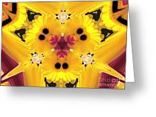 Kitty Petals Greeting Card by Cheryl Young