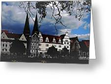 Knight's Castle Greeting Card by Yury Bashkin