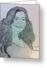 Kourtney Kardashian Greeting Card by Charita Padilla