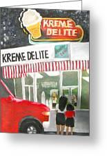 Kreme Delite Greeting Card by Tina Swindell