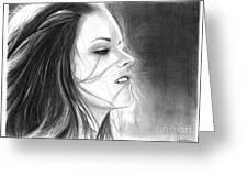 Kristen Stewart Greeting Card by Crystal Rosene