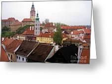 Krumlov  Roofs Greeting Card by Yury Bashkin