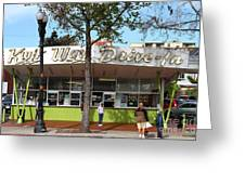 Kwik Way Drive-in Fast Food Restaurant . Oakland California . 7d13521 Greeting Card by Wingsdomain Art and Photography
